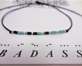 Badass Morse Code Bracelet, Friendship Bracelet
