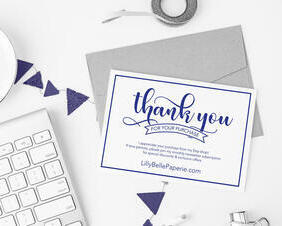 Thank You Postcard Design for Small Businesses