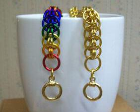 Chainmaille Persian Style Bracelet, Assorted Color Choices