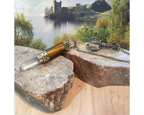 Quartz Crystal Dragon Claw with Tiger Eye Pendulum for Divination Guidance