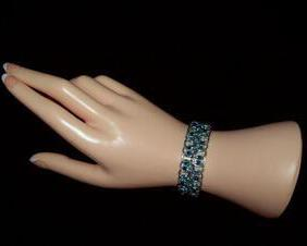 Chainmaille Bracelet, Japanese Lace, Reversible