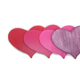 Hand painted custom wood heart magnets, the perfect gift to show your love. Available in multiple colors.