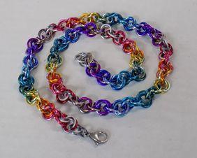 rainbow pride rope chain