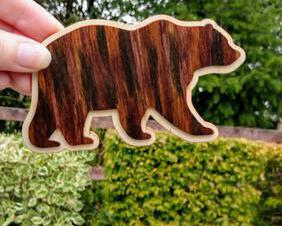 A perfect gift for the Mama Bear or Papa Bear in your life, this wooden bear magnet is hand painted & can be personalized.
