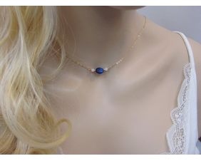 Lapis Lazuli Necklace with Moonstone