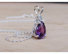 Alexandrite Pendant, Color Change Necklace
