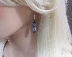 Dendrite Opal Gemstone Earrings