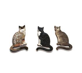 Set of 3 custom kitty cat magnets