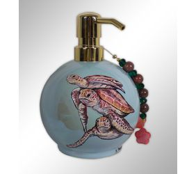 Hand Painted Turtle Soap Dispenser