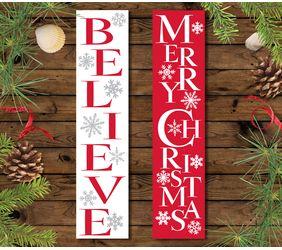 Snowflake Signs, Believe & Merry Christmas