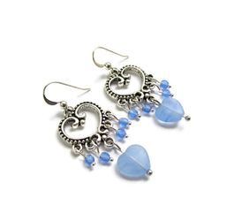 Blue and Silver Romantic Earrings