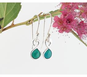 aqua-green-enameled-fine-silver-earrings