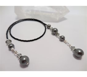 Beaded Bookmark - Black Diamond
