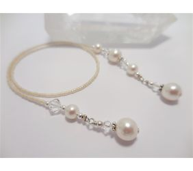 Beaded Bookmark - Crystal Pearl