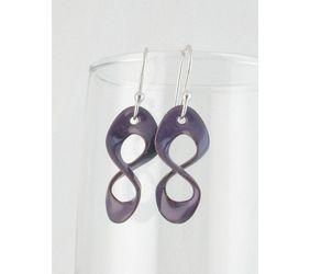 Purple Copper Enamel & Sterling Copper Enamel & Sterling Crazy-8 Infinity EarringsCrazy-8 Infinity Earrings