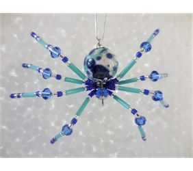 Beaded Christmas Spider with Legend
