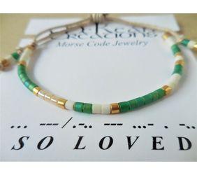 Men's Morse Code Bracelet So Loved