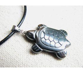 stylized sea turtle necklace