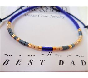 Men's Morse Code Bracelet Best Dad