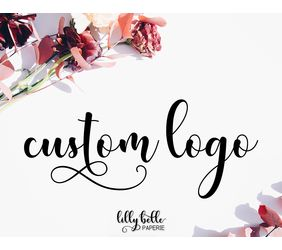 custom design logo for small business branding theme