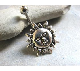 Cheerful sunshine belly ring