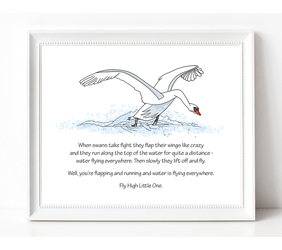 White Swan Illustration with Poem