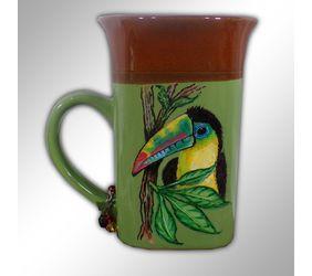 Hand Painted Toucan Coffee Mug