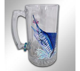 Hand Painted Sailfish Beer Mug