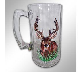 Hand Painting Deer Beer Mug