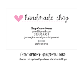 custom business card - horizontal format