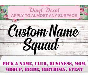 custom squad decals