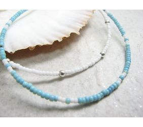 Summer Anklets in turquoise or white