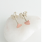 Tiny Heart Stud Earrings in Sterling Silver or Copper with Sterling Silver Posts and Butterfly Wirenuts