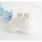 Silver valentine earrings