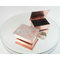 Tiny Hinge Lid Solid Copper Trinket Box with Sterling Opal gemstone