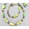 Necklace set   Green apple turquoise, freshwater pearls, chartreuse vintage glass beads