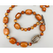 Necklace set | Carnelian planed nuggets, sparkling faceted rounds, sterling silver focal bead, Bali silver spacers and toggle clasp