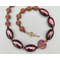 Necklace set | 1960s West German mauve lucite disks and rounds with sparkling crystals, vintage Italian lucite metallic plum ovals