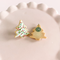 fireflyFrippery White Christmas Tree Sugar Cookie Earrings Front & Back