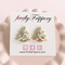 fireflyFrippery White Christmas Tree Sugar Cookie Earrings on Card