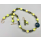 Necklace set | Vintage lampwork, glass beads, and crystals, Venetian aventurina focal disk