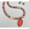 Necklace set | Salmon and silver palette — Miriam Haskell vintage focal bead, vintage glass beads, white jade, freshwater pearls
