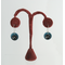 hoose Your Personal Custom Color Combination for these Torch-Fired Enameled Copper Double-Disc Button Dangle Earrings, with Argentium 935 Sterling Silver