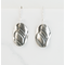 Brushede Silver minimalist earrings