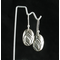 Minimalist upcycled Silver Drop Earrings