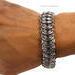 Stainless Steel Chainmaille Vertebrae LG Bracelet