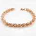 Rose Gold Sweet Pea Chainmaille Bracelet