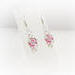 Silver Chainmaille Captured Bead Earrings Rose