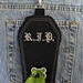 Coffin Shaped dog poop bag holder or treat pouch handcrafted in the USA by A Fur Baby Favorite