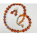 Necklace set |  Vintage Japanese and West German smoky topaz glass beads, amethyst rounds and spacers